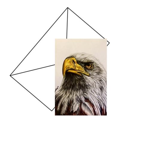 American Bald Eagle Fine Art Card Blank
