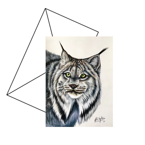 Canadian Lynx Fine Art Card Blank