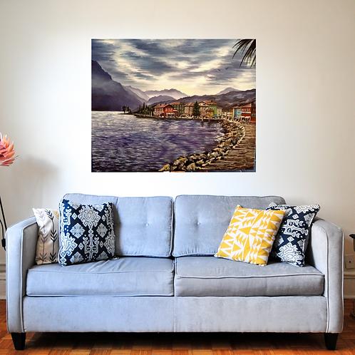 Lake Garda Italy Original Oil Painting