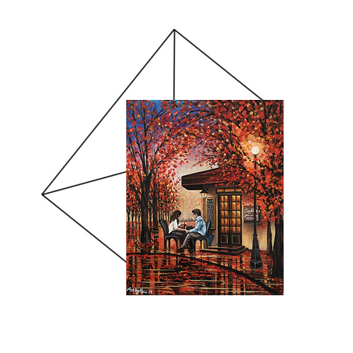 Autumn Reflections Romantic Card, Anniversary Card