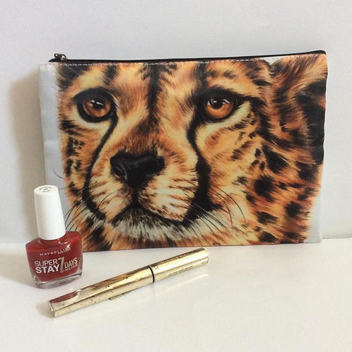 Cheetah Pencil Case/ Cosmetic Bag