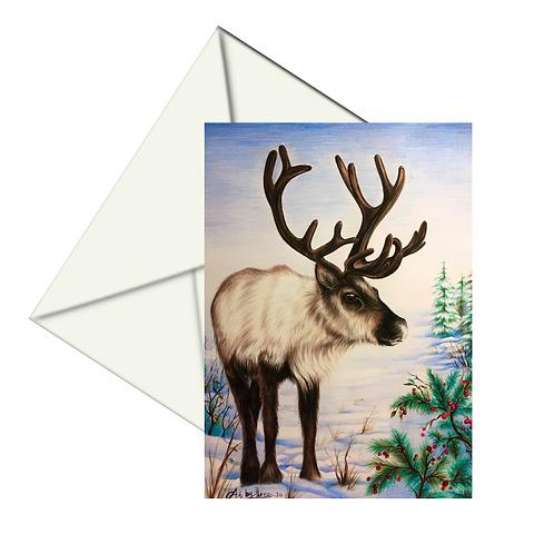 Reindeer Fine Art Card Blank