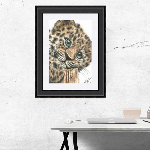 Jaguar Cub Art Print