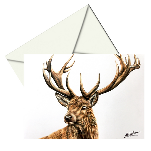 Stag Card Blank