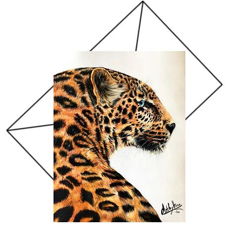 Jaguar Cat Greeting Card Blank