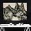 Thumbnail: Two Wolves Kissing Drawing Fine Art Print