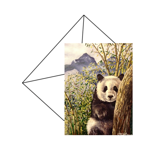 Panda Bear Card Blank