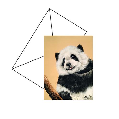 Cute Panda Cub Fine Art Card Blank