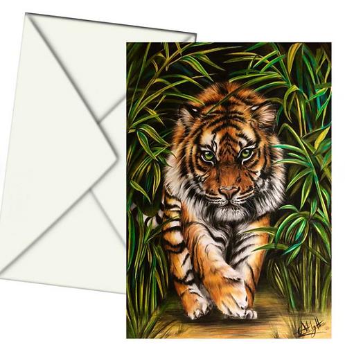 Bengal Tiger Fine Art Card Blank