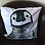 Thumbnail: Cute Penguin Chick Illustrated Faux Suede Cushion