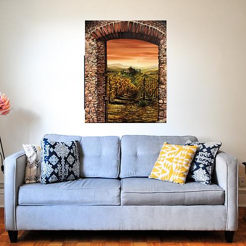 Tuscan Hilltop Art Print