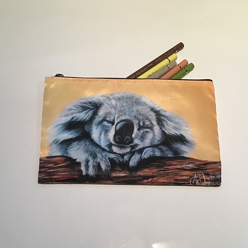 Sleepy Koala Pencil Case/ Cosmetic Bag