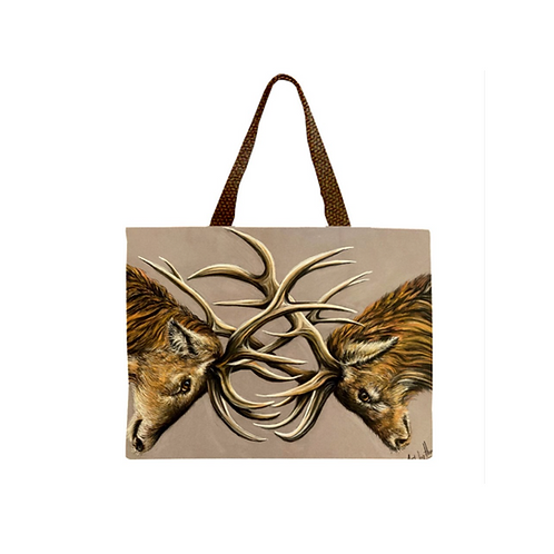 Two Stags Tote Bag
