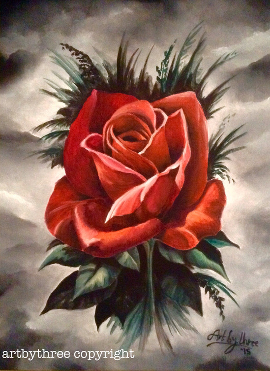 Gothic Red Rose