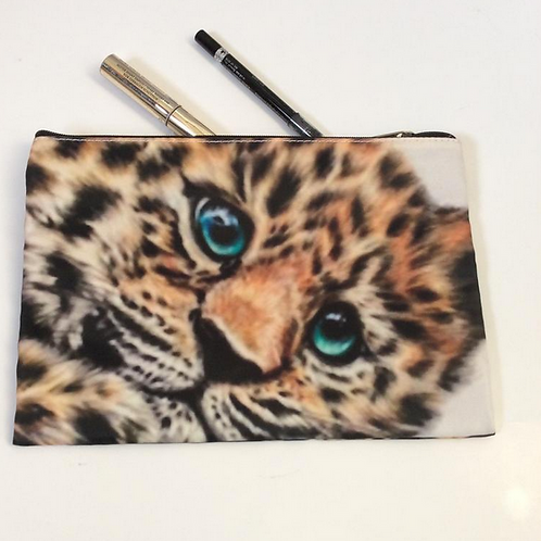 Jaguar Cub Pencil Case/ Cosmetic Bag