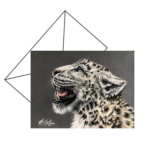 Snow Leopard Fine Art Card
