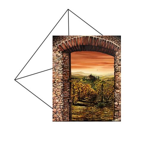 Tuscan Hilltop Blank Card