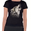 Thumbnail: Ladies Black Howling Wolf T Shirt