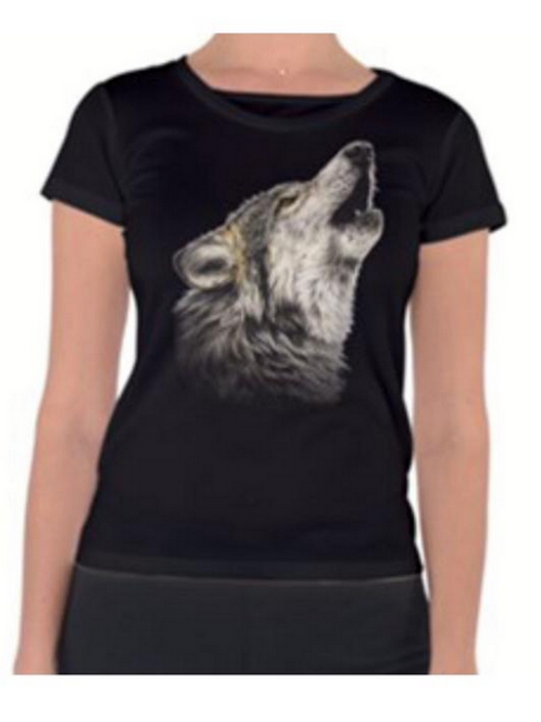 Howling Wolf Ladies T Shirt