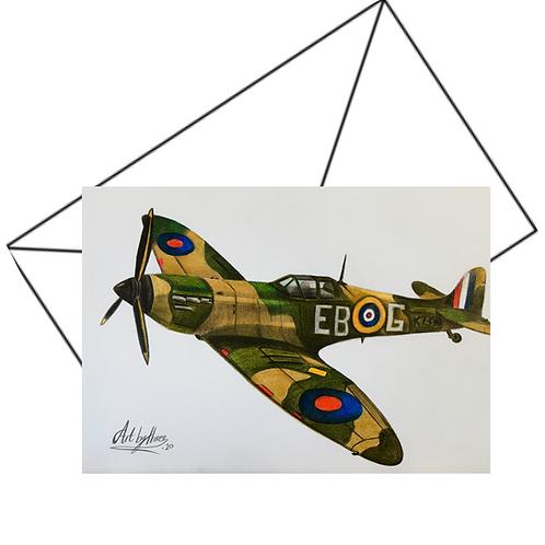 Spitfire Card, Military Aircraft Card
