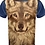 Thumbnail: Mens Wolf T Shirt Size Large