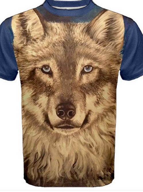 Mens Wolf T Shirt Size Large
