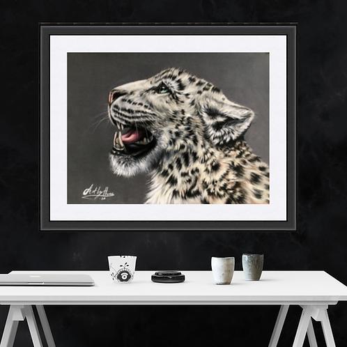 Snow Leopard Roaring Fine Art Print