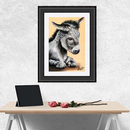 Baby Donkey Drawing Fine Art Print