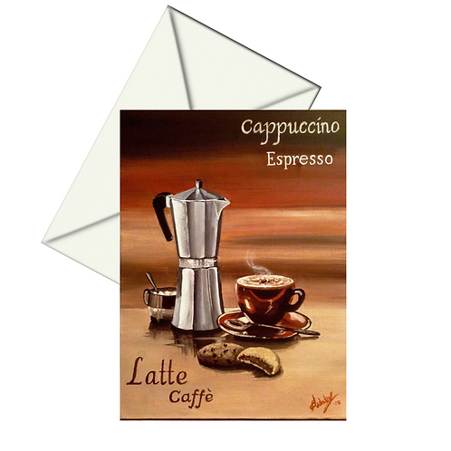 Coffee House Card Blank