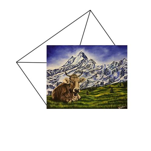Swiss Alps Fine Art Card