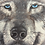 Thumbnail: Grey Wolf Face Oil Painting