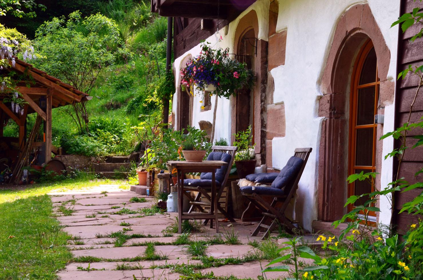 Terrasse im Erdgeschoss