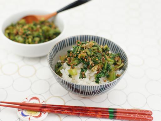 かぶの葉のふりかけ♡Condimento alle foglie di rapa per riso