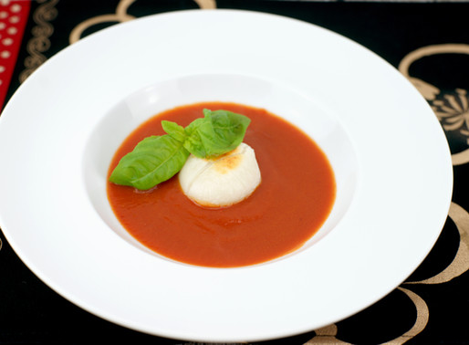 焼き餅とトマトソース MOCHI con salsa di pomodoro
