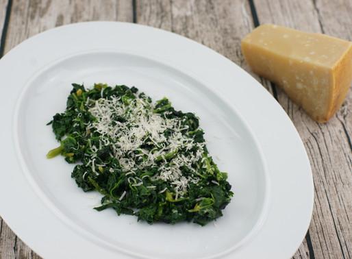 チーズとバターのほうれん草ソテー⭐︎ Spinaci ripassati in padella con burro e formaggio
