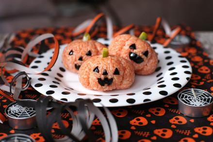 Zucchette di riso per Halloween