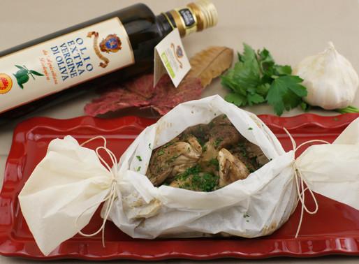 Funghi Pleurotus al forno 🍄ヒラタケ(平茸)の包み焼き