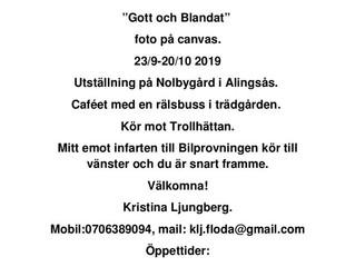 Gott och blandat, en utställning med Kristina Ljungberg