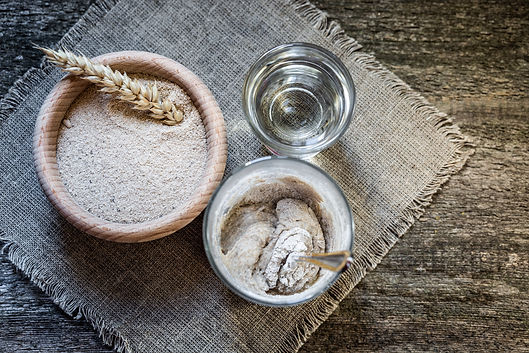 Process of feeding rye starter for bread