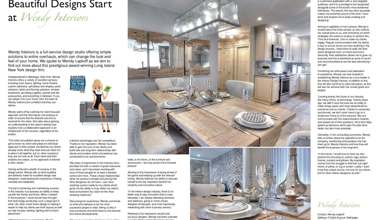 Wendy Interiors Lux Life Magazine Autumn 2018
