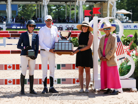 M. Michael Meller Style of Riding Award Presented to Ireland's Paul O'Shea at Great Lakes Equestrian