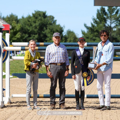 M. Michael Meller Style Award Presented to Georgina Bloomberg at 2021 American Gold Cup