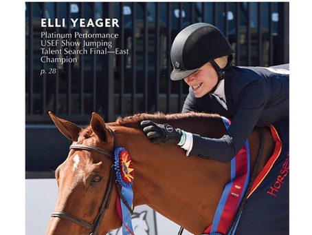 Yeager Steals The Show At Platinum Performance USEF Show Jumping Talent Search Final-East