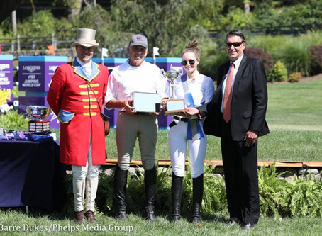 M. Michael Meller Style Award Presented to Lucy Deslauriers at 2019 American Gold Cup
