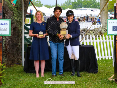Brianne Goutal-Marteau Presented with M. Michael Meller Style Award at Upperville Colt & Horse Show