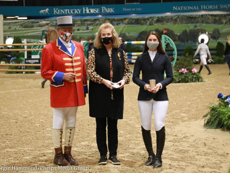 M. Michael Meller Style Award Presented to Sydney Shulman at 2020 National Horse Show