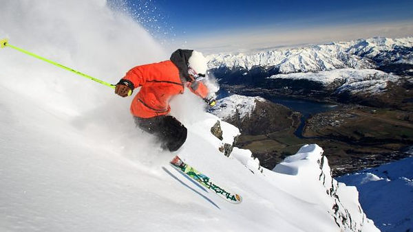 Skiing The Remarkables near Queenstown.j