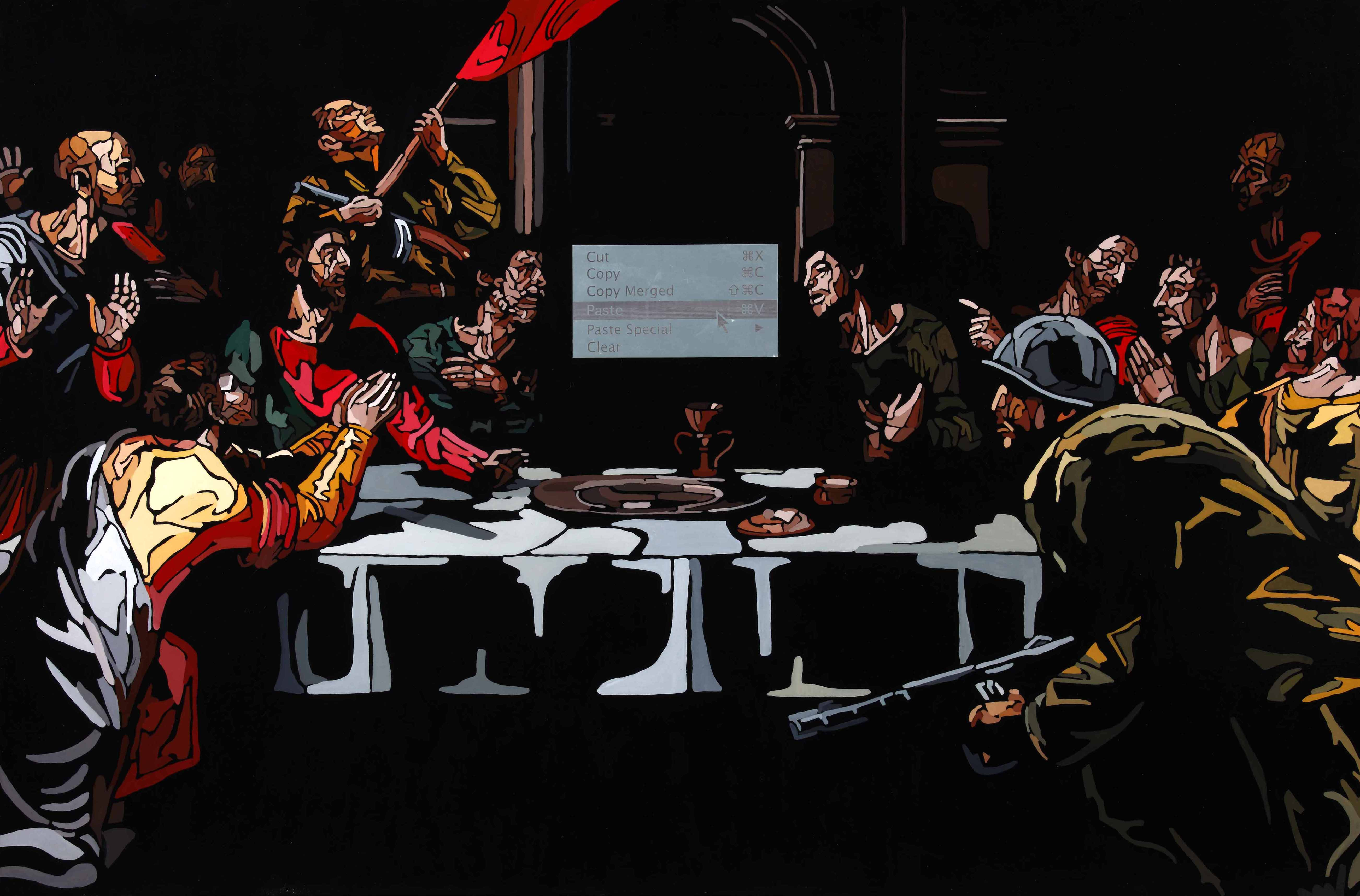 Last Supper Interrupted