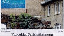 Zeitungsartikel in den Badischen Neuesten Nachrichten.