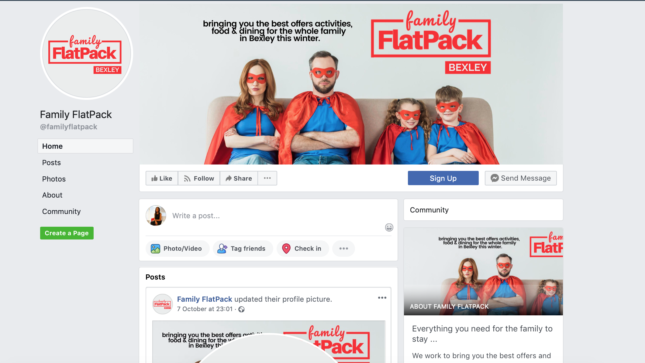 Facebook Page | Family FlatPack